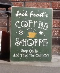 Jack Frost Shoppe- Wooden Holiday Sign - Christmas Sign ...