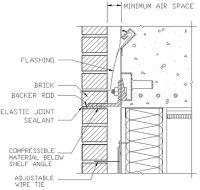 Elevation of an anchored masonry veneer wall system ...
