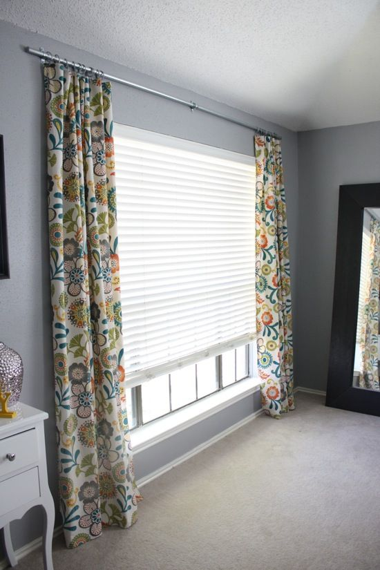Easy DIY Conduit Curtain Rod Industrial Curtain Rods And Homemade Curtain Rods