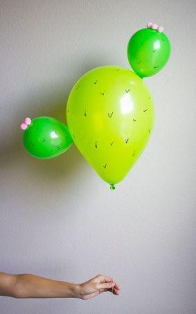 Cactus Balloons! Too cute!: