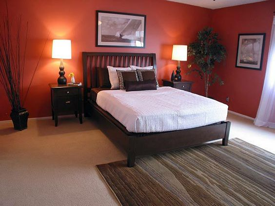 sunset orange for accent wall bedroom Pinterest • The world's catalog of ideas