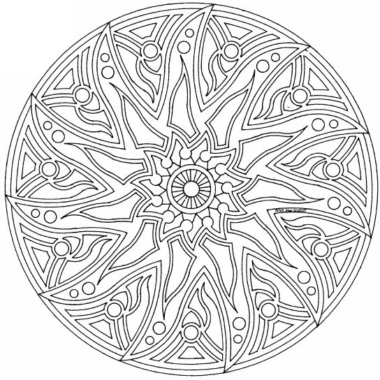complex mandala Colouring Pages (page 2 Celtic Mandala