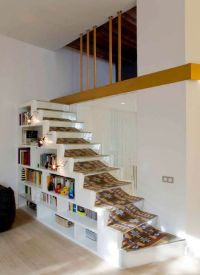 Mezzanine stairs and bookshelf | Under Stair Spaces ...