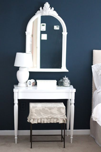 navy chair stool folding library benjamin moore gentleman's gray dark blue bedroom paint color | home ideas pinterest ...