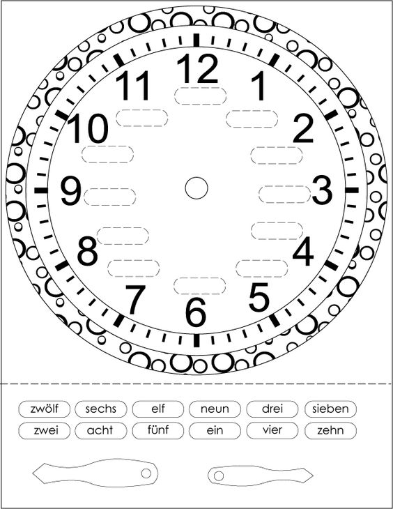 Clock and Worksheets on Pinterest
