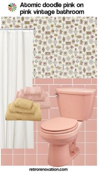 13 ideas to decorate an all-pink tile bathroom   Vintage ...