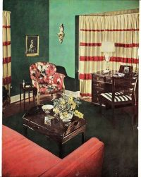 Late 1940's Living Room | Pink House Style | Pinterest ...