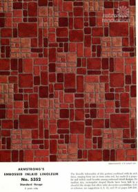 Armstrong 5352 Embossed Inlaid Linoleum - the most popular ...