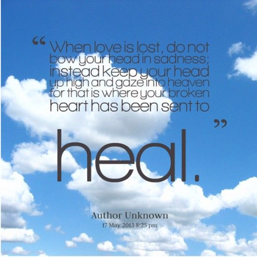 10 Spiritual Healing Quotes For A Broken Heart Pinterest