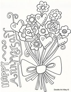 Happy anniversary, Anniversaries and Coloring on Pinterest
