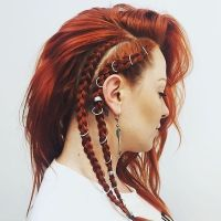 Incredible hair braids featuring Regal Rose hair rings and
