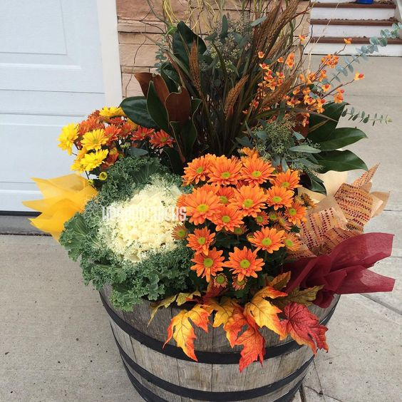 Fall containers More: