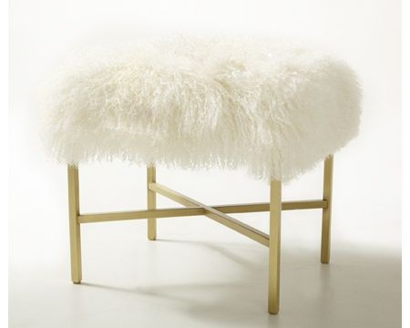 Faux Fur Vanity Stool Makeover  Marlow Court  Pinterest