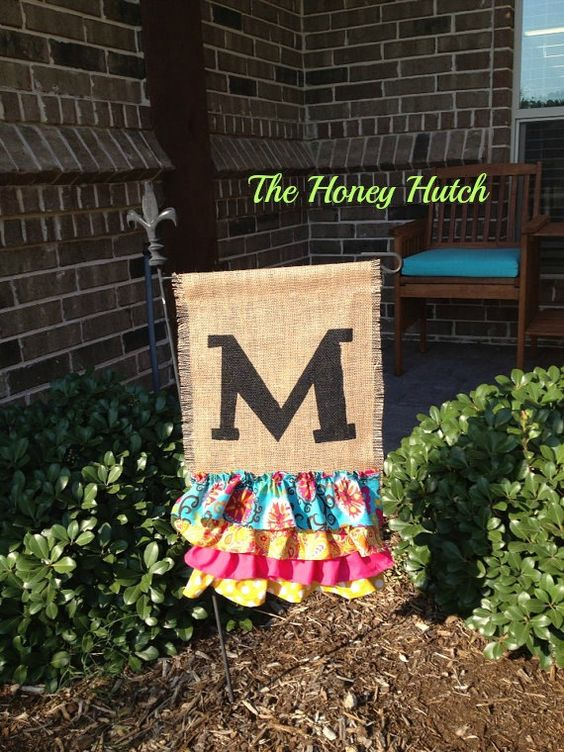 monogrammed flags for outdoors