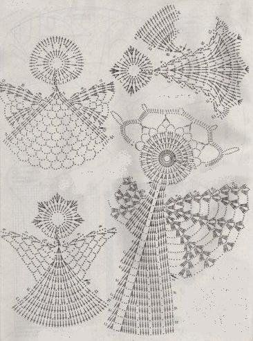 Charts, Crochet angels and Angel on Pinterest