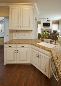 """Refaced Kitchen Cabinets , Antique English """"Turin"""" finish ..."""