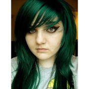emerald green hair - google