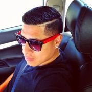 mens haircut. comb over with