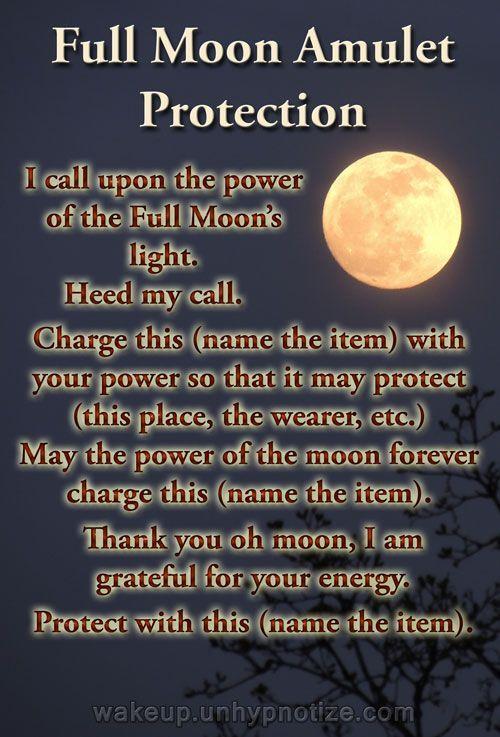 Litha Ritual Full Moon Amulet Prote...