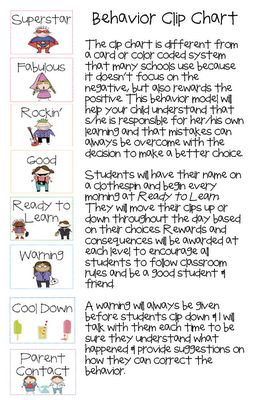 Positive behavior, Clothespins and Clip art on Pinterest