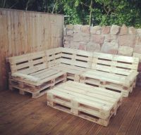 Pallet Corner Seat For Decking Area | New House ...