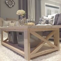 DIY Coffee Table from plan http://ana-white.com/2012/07 ...