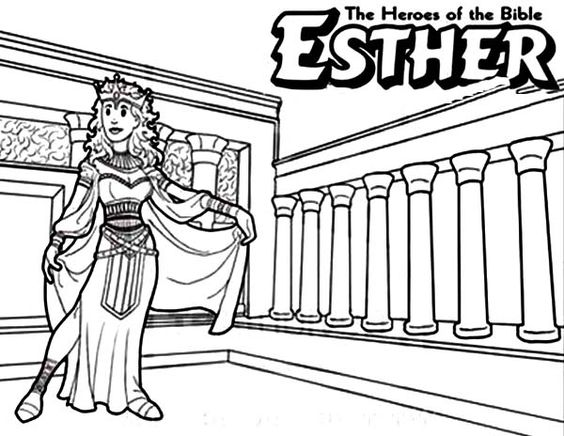 Heroes, Coloring and Queen esther on Pinterest