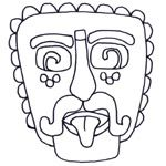Bunch of different coloring pages of Maya, Inca, and Aztec