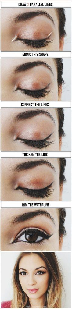 How To: Apply Liquid Eyeliner for Beginners..Liquid Eyeliner Tips, Tricks & Hacks for Perfect Cat-Eye..Liquid Eyeliner Tutorial - How to Apply Liquid Eyeliner perfectly..How To Apply Eyeliner Perfectly - Step by Step Tutorial and Tips..Tricks for Applying Liquid Liner for Beginners.. Easy Ways to Apply Liquid Liner..ideas about Liquid Liner on Pinterest:
