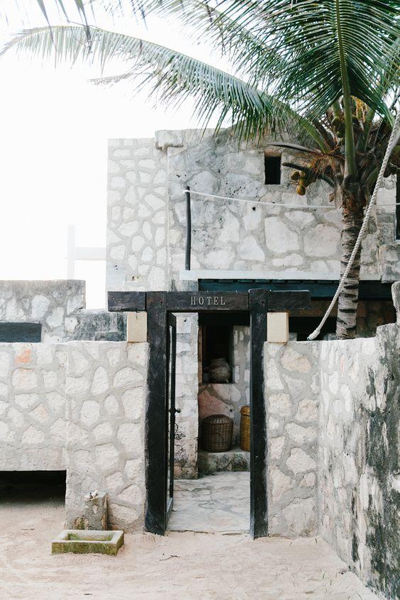 coqui coqui hotel exterior in tulum | via coco kelley: