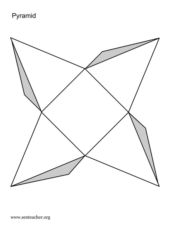 Geometry, 3d shapes and Cut outs on Pinterest
