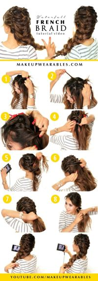 Waterfall French Braid Hairstyle | Hairstyles for Long ...
