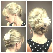 german french braid style. #prom