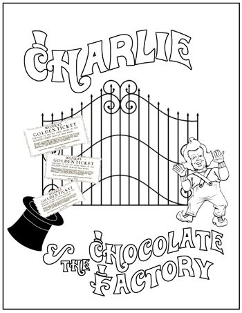 Coloring sheet or make folder, gates open to reveal his