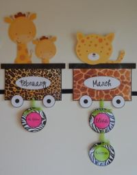 Safari/Jungle Theme Birthday Bulletin Board Idea
