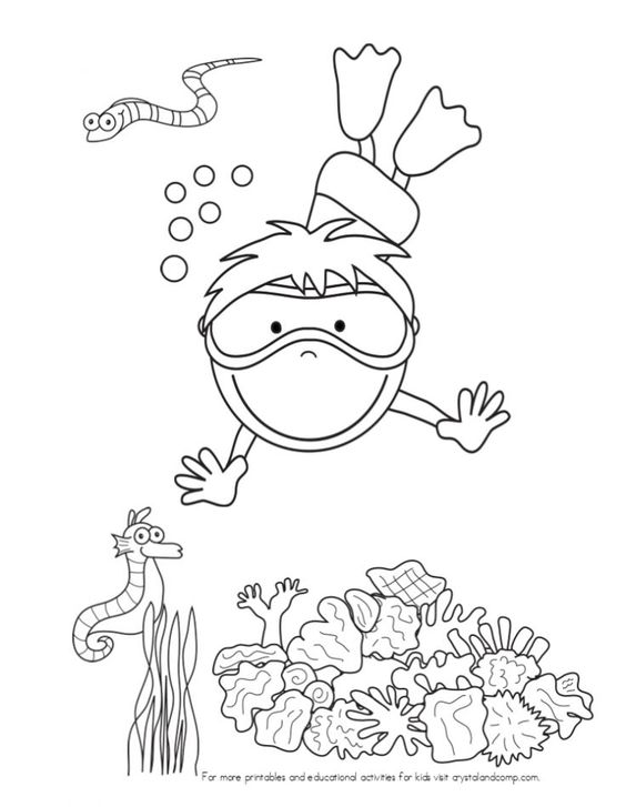 Ocean themes, Under the sea and Colouring pages on Pinterest