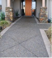 Exposed aggregate, Concrete patios and Exposed aggregate ...