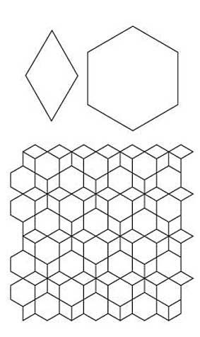 English paper piecing, Paper piecing and Diamond pattern