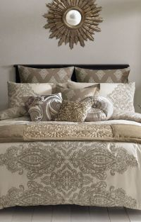 Taupe bedding, Gold bedding and Duvet covers on Pinterest