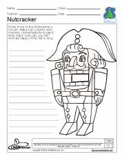 Activities, Coloring pages and Nutcracker christmas on