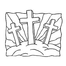 Coloring pages, Crosses and Jesus crucifixion on Pinterest