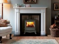 images of wood burning stove with outside air schrader ...