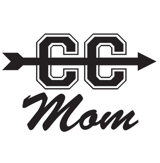 Cross Country Mom Style 1 Car Decal by Sporthletics on