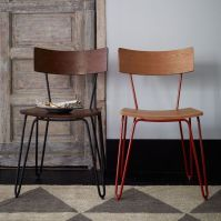 NEW! Hairpin Leg Dining Chairs from west elm | Mid-Century ...