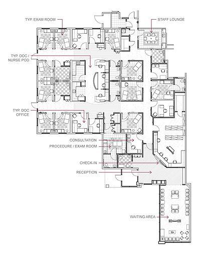 Floor Plan with labels  office design  Pinterest