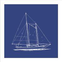 Sailboat Blueprint Framed Wall Art I | Abode | Pinterest ...
