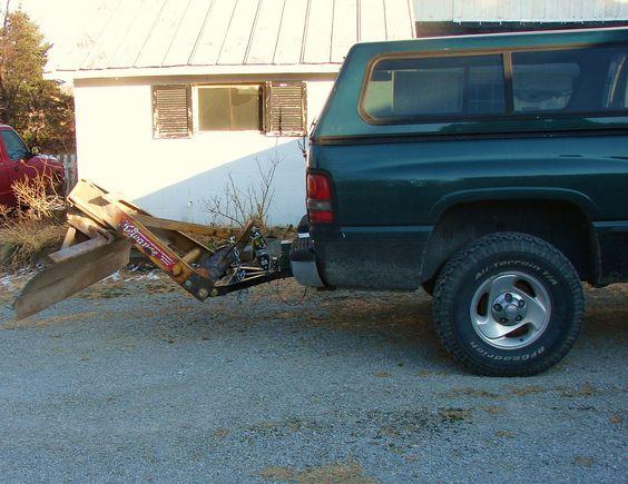 homemade rear snow plow! PlowSitecom Snow Plowing