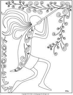 C1 Week 19 Free coloring worksheet of Kokopelli--fertility