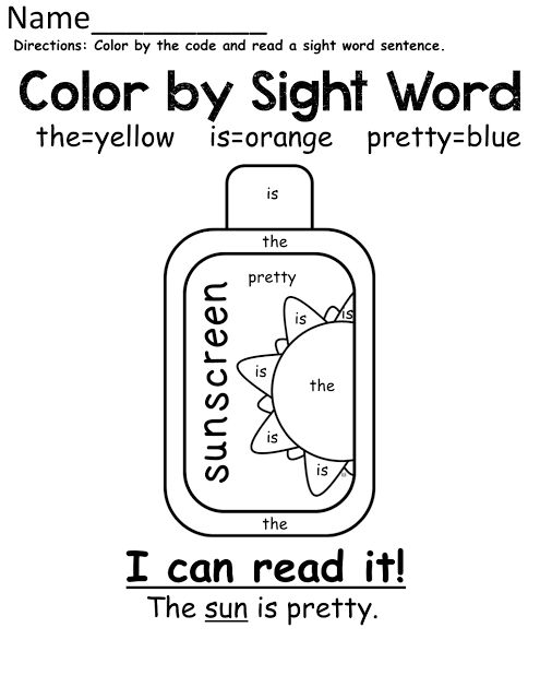 Colors, Words and Coloring pages on Pinterest
