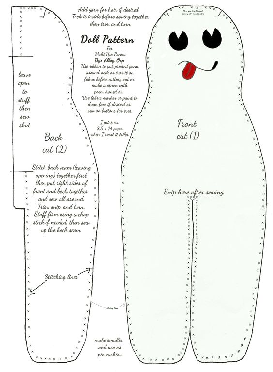 Patterns, Dolls and Doll patterns on Pinterest